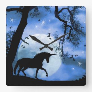 Unicorn and Moon Clock