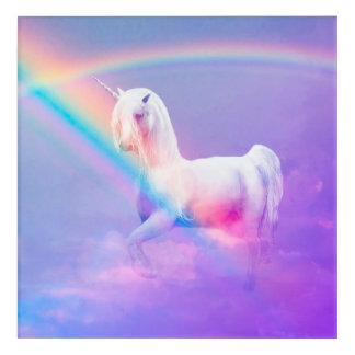 Unicorn and Rainbow Acrylic Wall Art