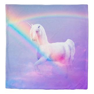 Unicorn and Rainbow Duvet Cover
