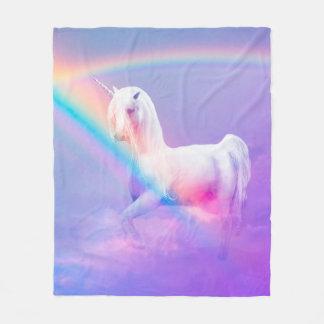 Unicorn and Rainbow Fleece Blanket