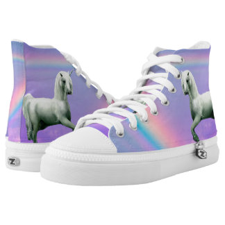 Unicorn and Rainbow High Tops