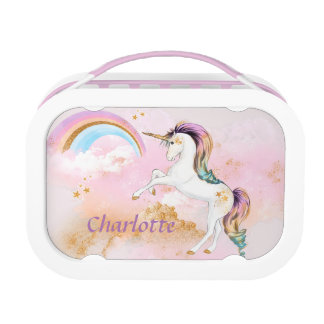 Unicorn and Rainbow Lunch Box