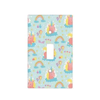 Unicorn and Rainbow Pattern Light Switch Cover