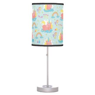 Unicorn and Rainbow Pattern Table Lamp