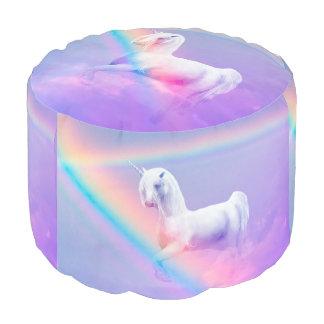 Unicorn and Rainbow Pouf
