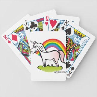 Unicorn and Rainbow - unicorn and rainbow Bicycle Playing Cards