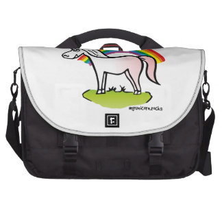 Unicorn and Rainbow - unicorn and rainbow Commuter Bag