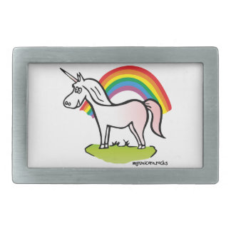 Unicorn and Rainbow - unicorn and rainbow Rectangular Belt Buckles