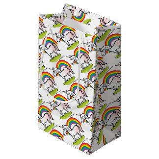 Unicorn and Rainbow - unicorn and rainbow Small Gift Bag