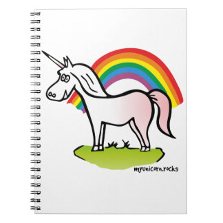 Unicorn and Rainbow - unicorn and rainbow Spiral Notebook