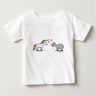 Unicorn and rhinoceros fall in love baby T-Shirt