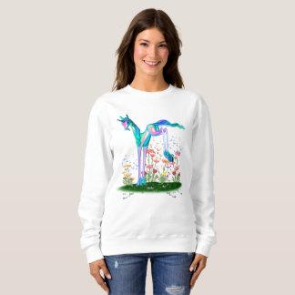 Unicorn and the pesky butterfly sweatshirt
