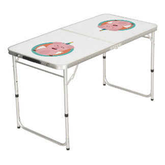 Unicorn Angel Pig in circle Zbibi Beer Pong Table
