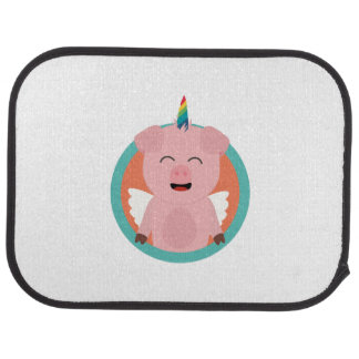 Unicorn Angel Pig in circle Zbibi Car Mat