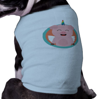 Unicorn Angel Pig in circle Zbibi Shirt