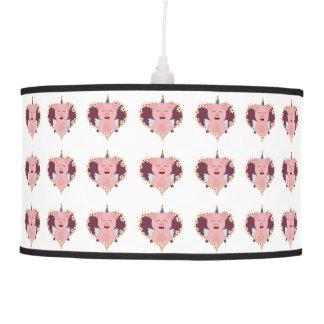 Unicorn angel pig in flower heart Zzvrv Hanging Lamp