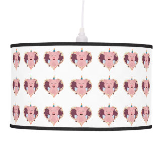 Unicorn angel pig in flower heart Zzvrv Pendant Lamps