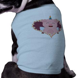 Unicorn angel pig in flower heart Zzvrv Shirt