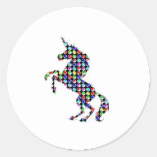 UNICORN animal fantasy dot kids navinJOSHI NVN90 Round Sticker