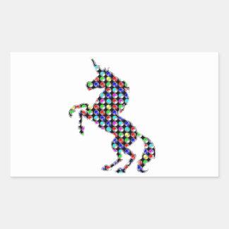 UNICORN animal fantasy dot kids navinJOSHI NVN90 Rectangular Stickers