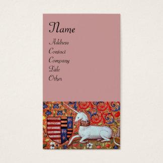 UNICORN ,antique pink Business Card