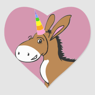 Unicorn at Heart Heart Sticker