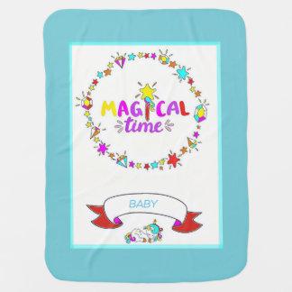 Unicorn Baby Blanket - Turquoise