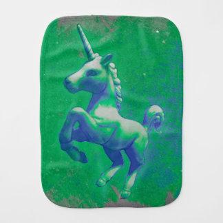 Unicorn Baby Burp Cloth (Glowing Emerald)