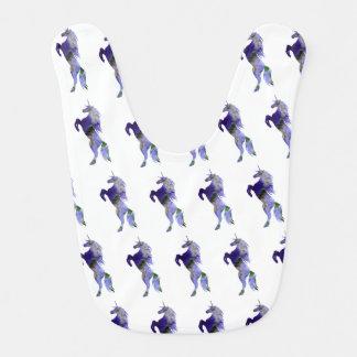 Unicorn Baby Jersey Bodysuit, White Bib