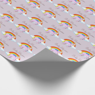 Unicorn Baby Shower Matte Wrapping Paper