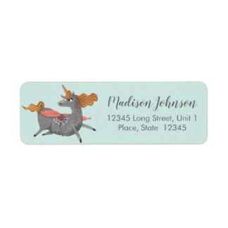 Unicorn | Baby Shower | Return Address Labels