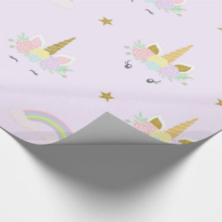 Unicorn Baby Shower Wrapping Paper