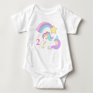 Unicorn Baby Vest Two Year Old Baby Bodysuit
