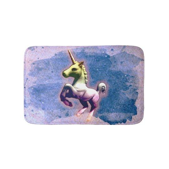 Unicorn Bath Mat (Burnt Blue)