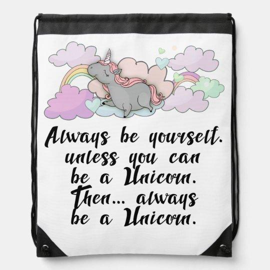 Unicorn, Bea A Unicorn, Drawstring Backpack
