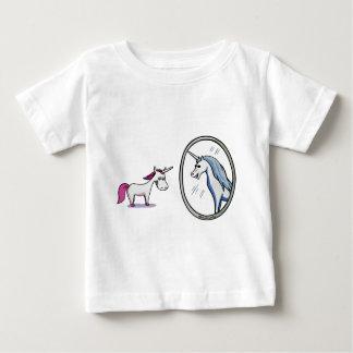 Unicorn before mirrors - Unicorn in front OF Baby T-Shirt