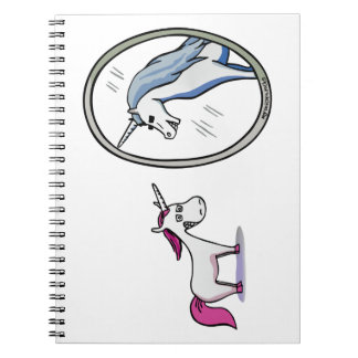 Unicorn before mirrors - Unicorn in front OF Notebook