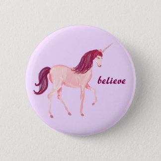 Unicorn Believe 2 Inch Round Button