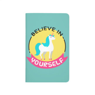 "Unicorn ""Believe in yourself"" motivational drawing Journal"