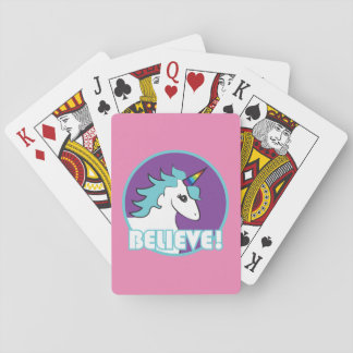 "Unicorn ""BELIEVE!"" Playing Cards"