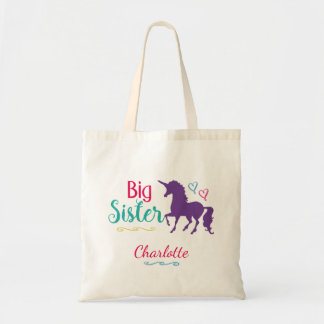 Unicorn Big Sister Colorful Sibling Personalized