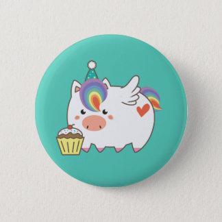 Unicorn Birthday 2 Inch Round Button