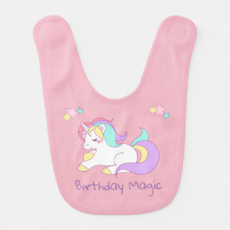Unicorn Birthday Bib