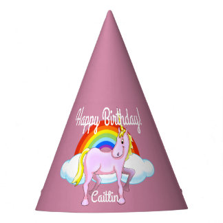 Unicorn Birthday Hats (Customizable)