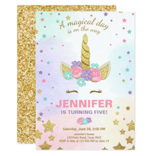 unicorn birthday invitations announcements zazzle ca