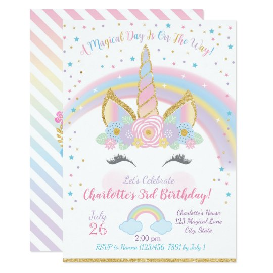 Unicorn birthday invitation unicorn party invite zazzle unicorn birthday invitation unicorn party invite stopboris Image collections