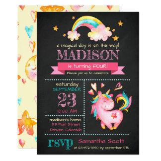 Unicorn Birthday | Magical Birthday Party Invite