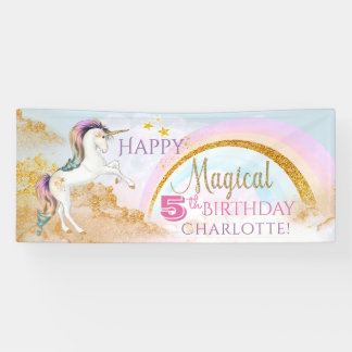 Unicorn Birthday Party Banners