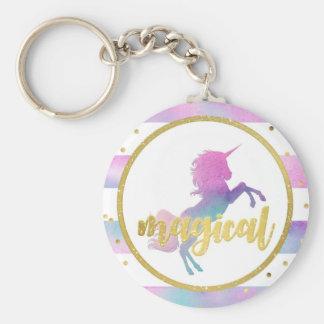 Unicorn Birthday Party Favors | Watercolor Glitter Keychain
