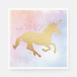 Unicorn Birthday Party Napkin